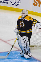 small bruins goalie