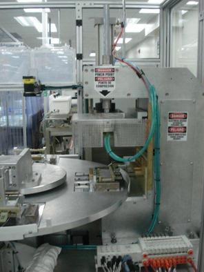 Rotary rf welding machine C-frame press