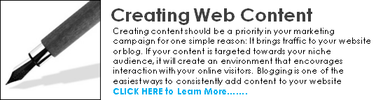 creating web content home page call to action