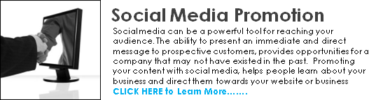 social media promotion home call to action