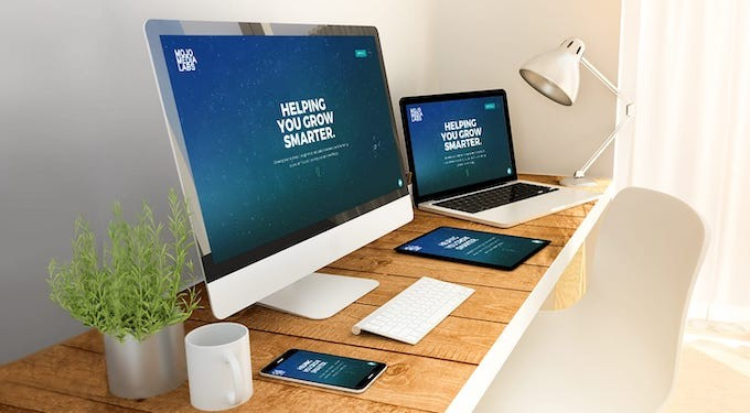 Image of a website on different devices