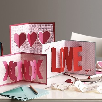 martha stewart valentines day 3d cards diy