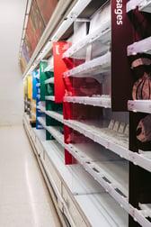Empty Grocery Store Shelf