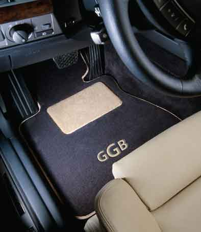 Custom car mat from GG Bailey