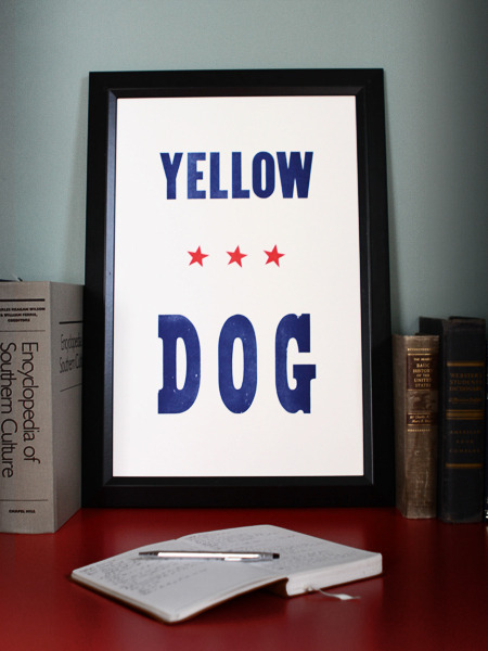 Yellow Dog Art Print from Old Try