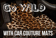Go Wild with Car Couture animal print car mats