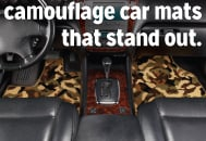 Stand out with camouflage car mats