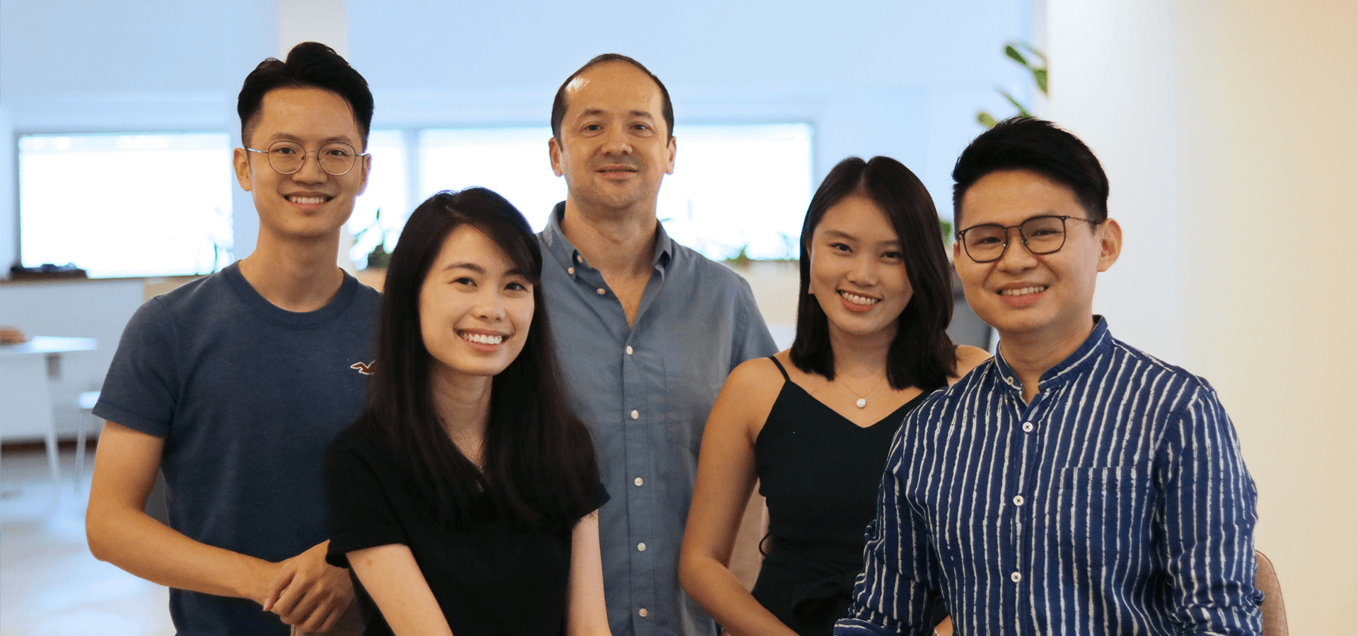 The people behind Lab360: Arvin, Elizabeth, James, Miranda and Agung