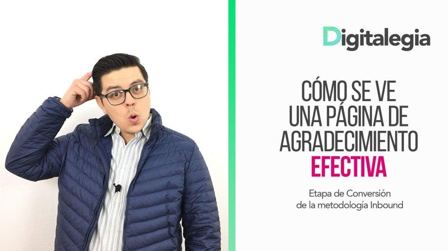 [VIDEO] CÓMO SE VE UNA PÁGINA DE AGRADECIMIENTO EFECTIVA