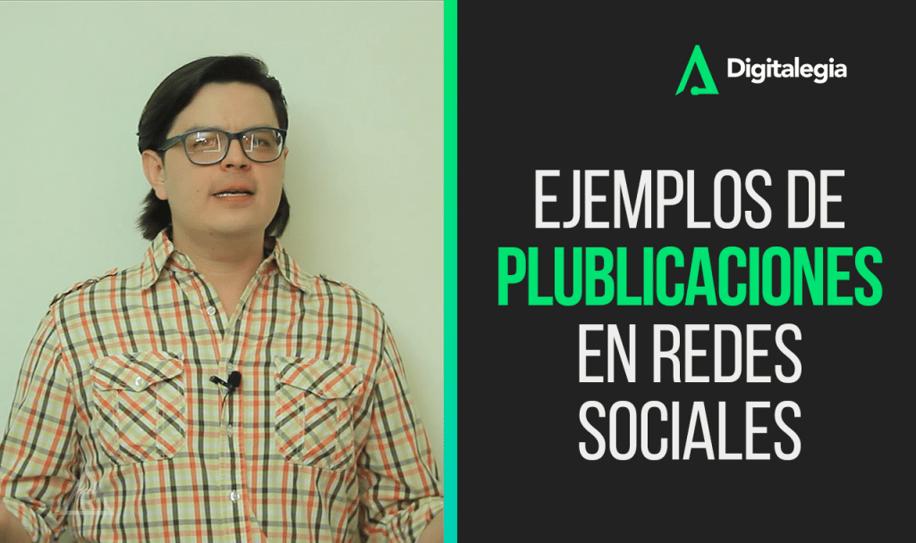 [VIDEO] EJEMPLOS DE PUBLICACIONES EN REDES SOCIALES