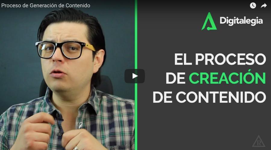 [VIDEO] PROCESO DE GENERACIÓN DE CONTENIDO