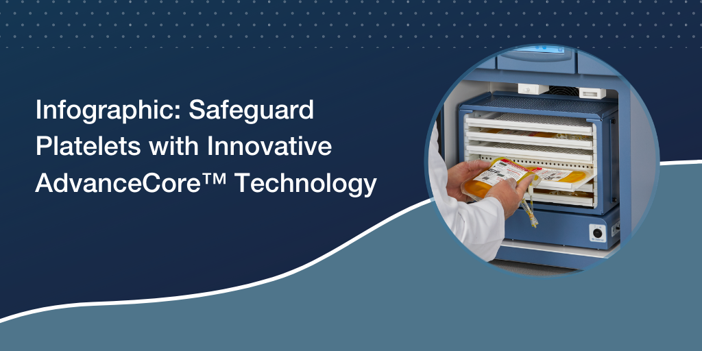 Infographic: Safeguard Platelets with Innovative AdvanceCore™ Technology