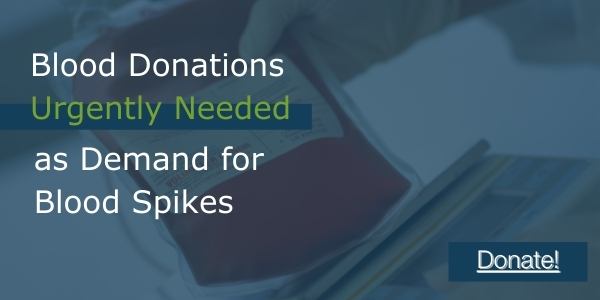 Donations Urgently Needed as Blood Supply Drops to Unprecedented Levels