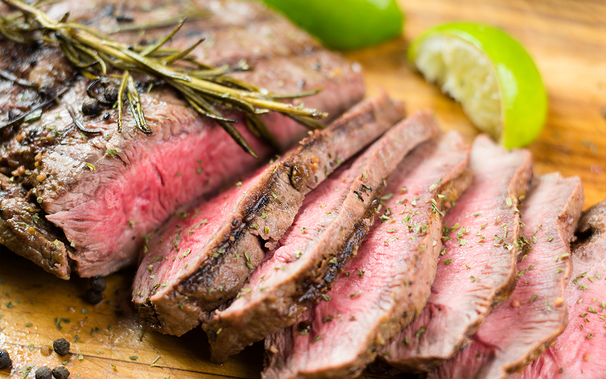 Grilled Flank Steak with Mexican Corn Salad