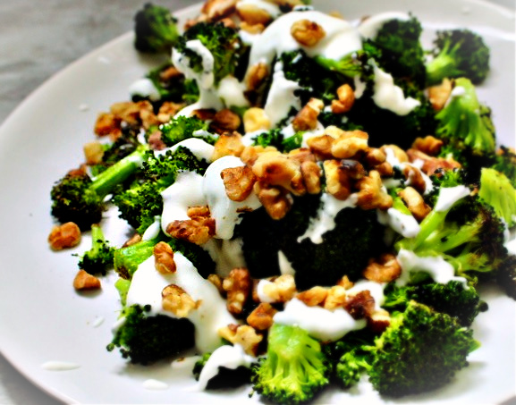 Recipe of the Week: Roasted Broccoli with Ricotta Whip & Walnuts