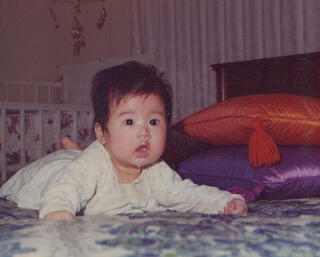 Jenn as a 3-month-old baby in1974
