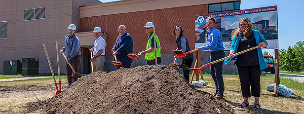Pillager School District Hosts Groundbreaking Ceremony for New Addition and Remodel Project