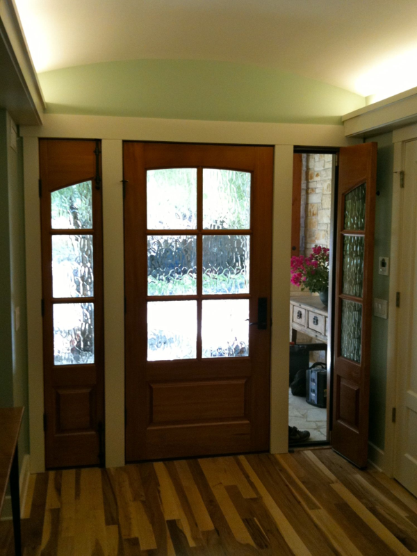 Front Door with Operable Sidelights