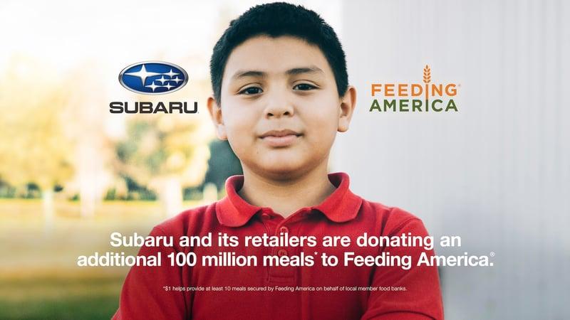 Subaru Donates 100 Million Meals to Feeding America