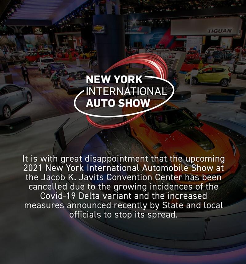 New York Auto Show Cancelled Due To Covid