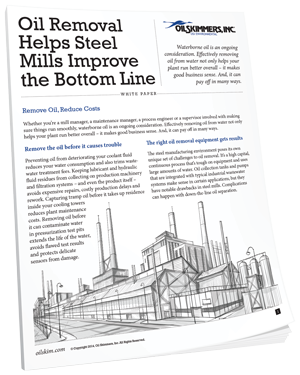 Oil Removal Helps Steel Mills Improve Bottom Line