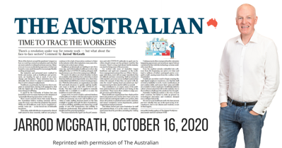 COVID may change industries that can't work from home even more - Jarrod McGrath - The Australian, October 16, 2020