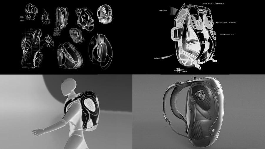 Gravity Sketch KeyShot Backpack Design Challenge