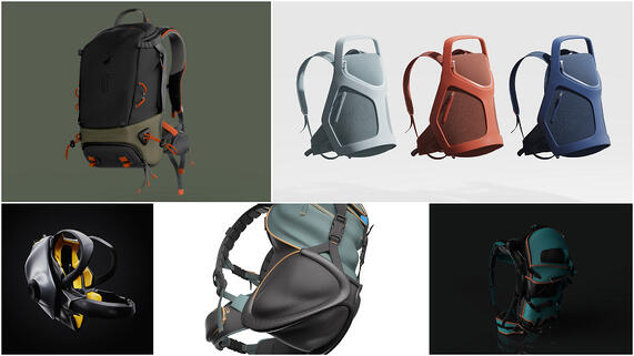 Gravity Sketch + KeyShot Backpack Design Challenge [Winner & Finalists]