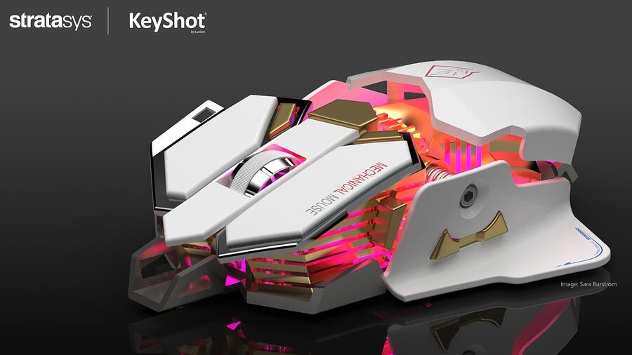Stratasys KeyShot gaming Mouse Design Challenge