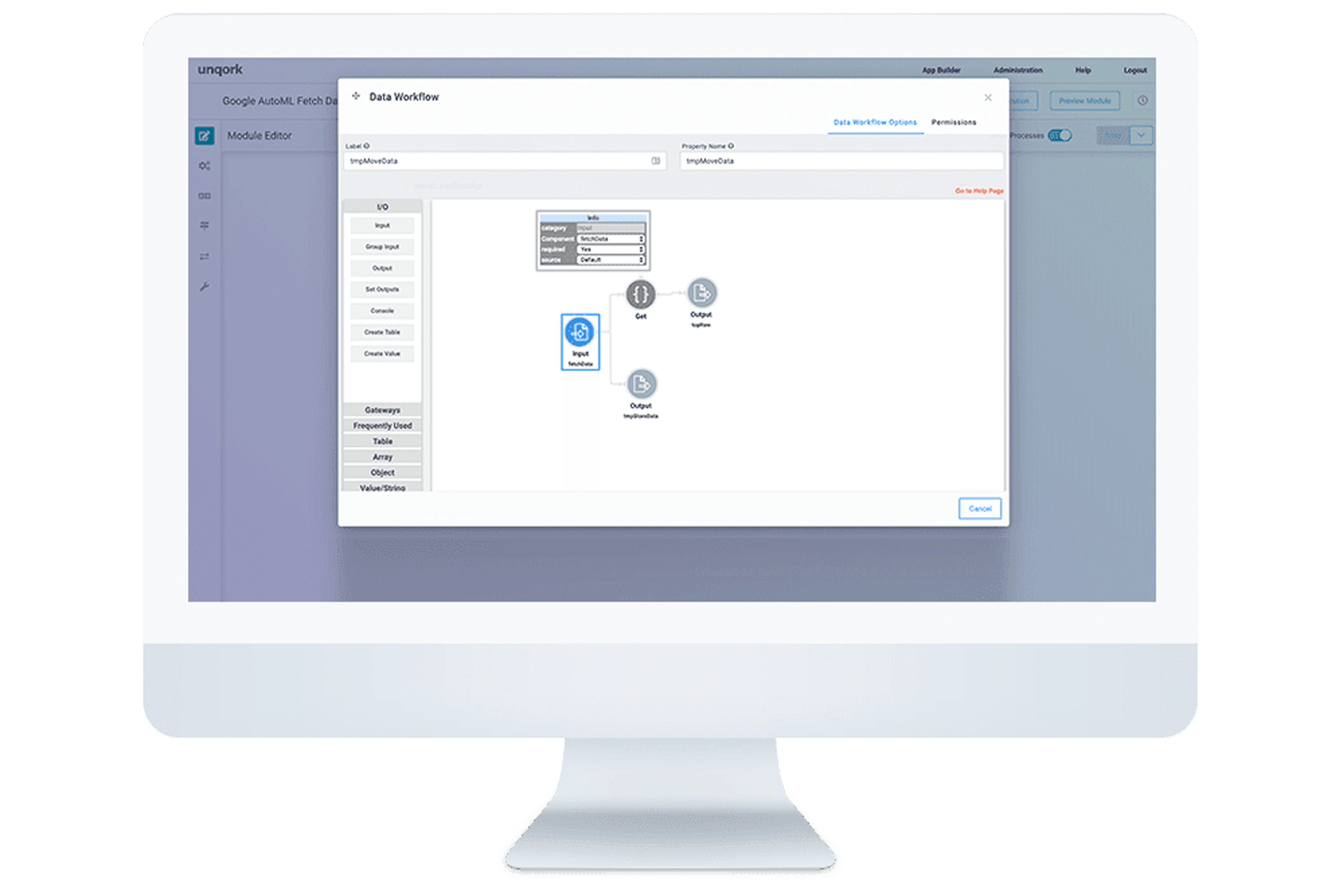 Data Workflow Desktop