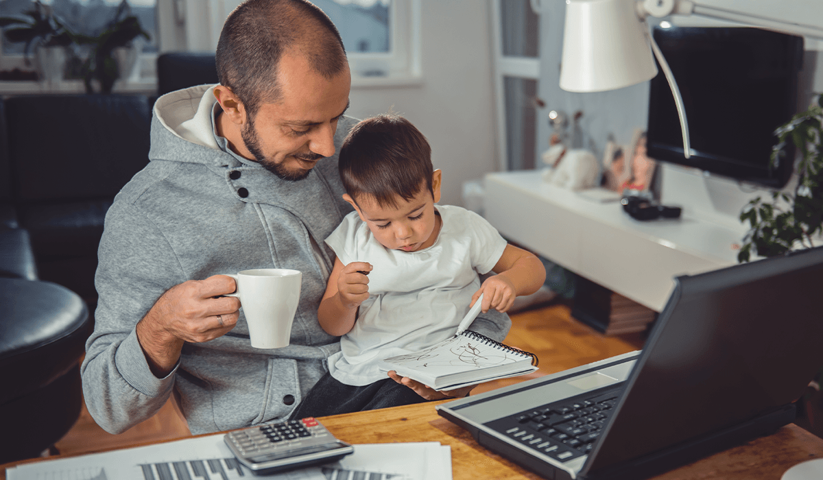 Payers-Father-Working from Home
