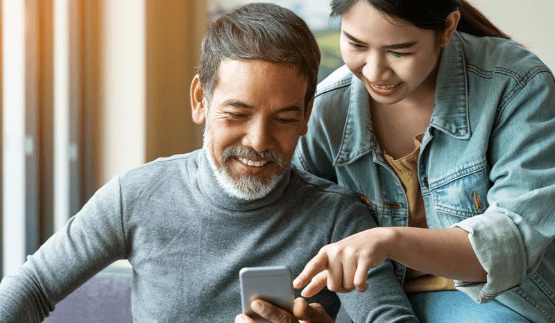 Retirement Grandpa phone app
