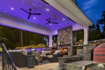 pavilion outdoor fireplace patio