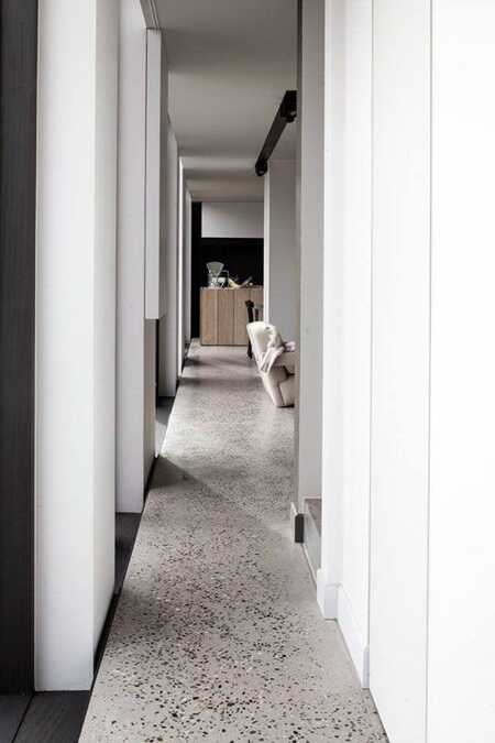 terrazzo flooring hallway ideas