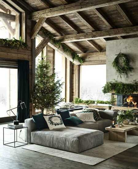 country home christmas decorations