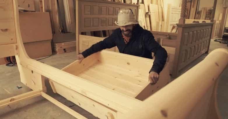 Revival Beds craftsman making a bed