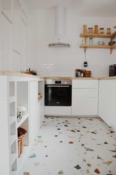 terrazzo flooring idea