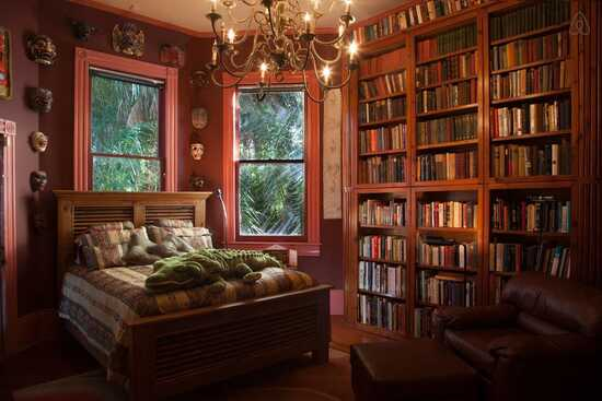 literary themed bedroom