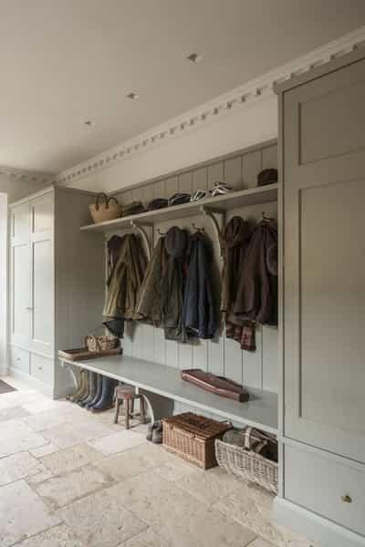 practical boot room hallway