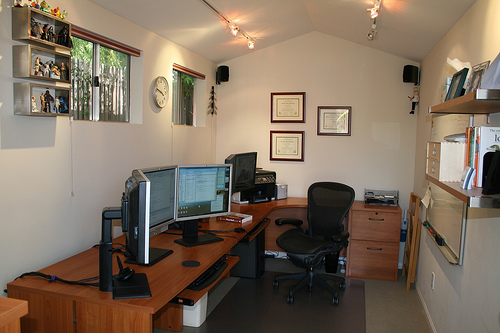 office inside shed