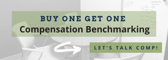 BOGO Compensation Benchmarking Banner --> Let's talk comp!