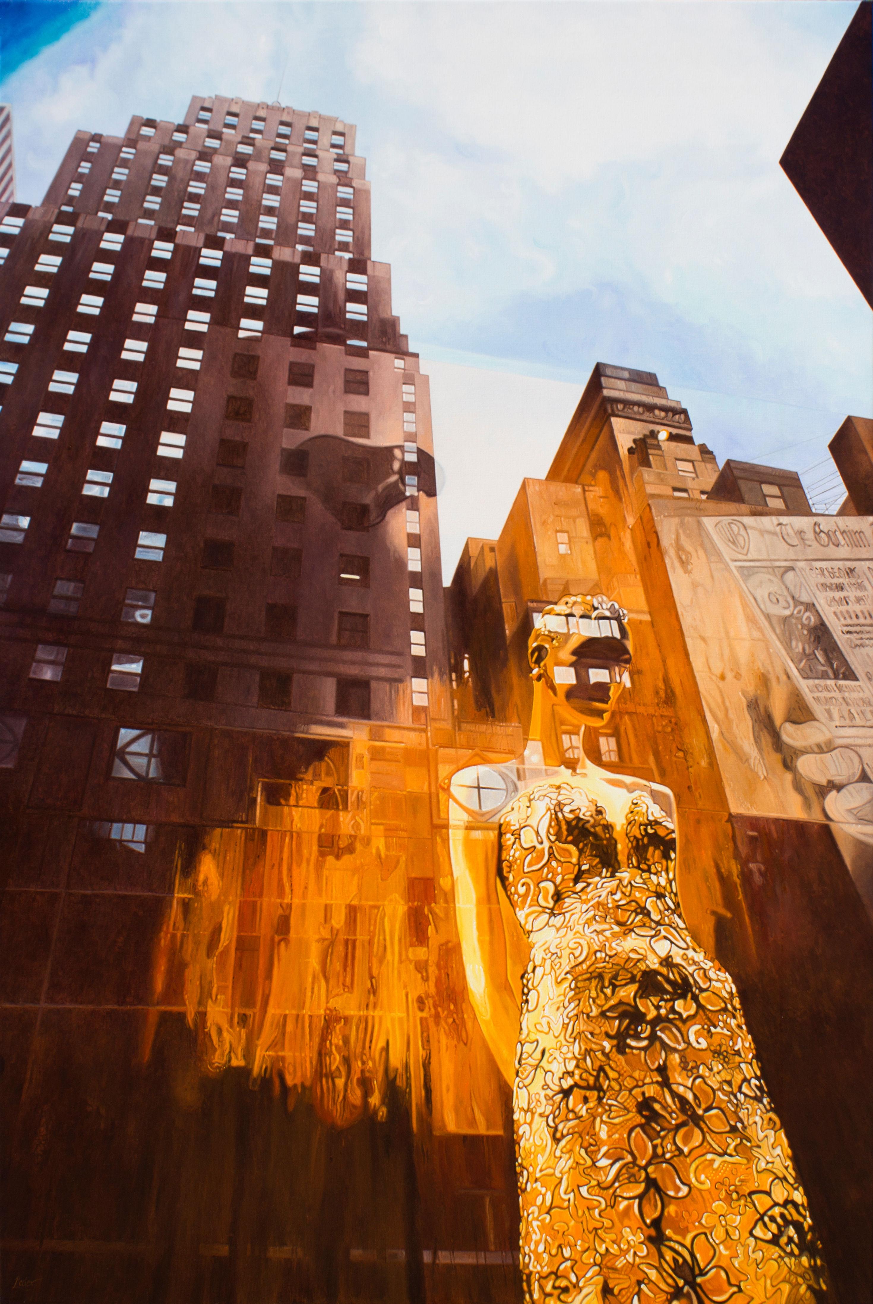 Manhattan Skyline - 95 x 63 in - SOLD