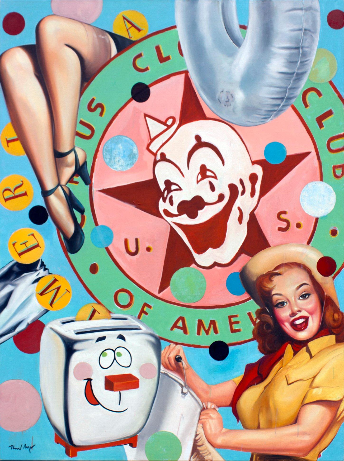 Clown Club of America - framed 64.75 x 49 in