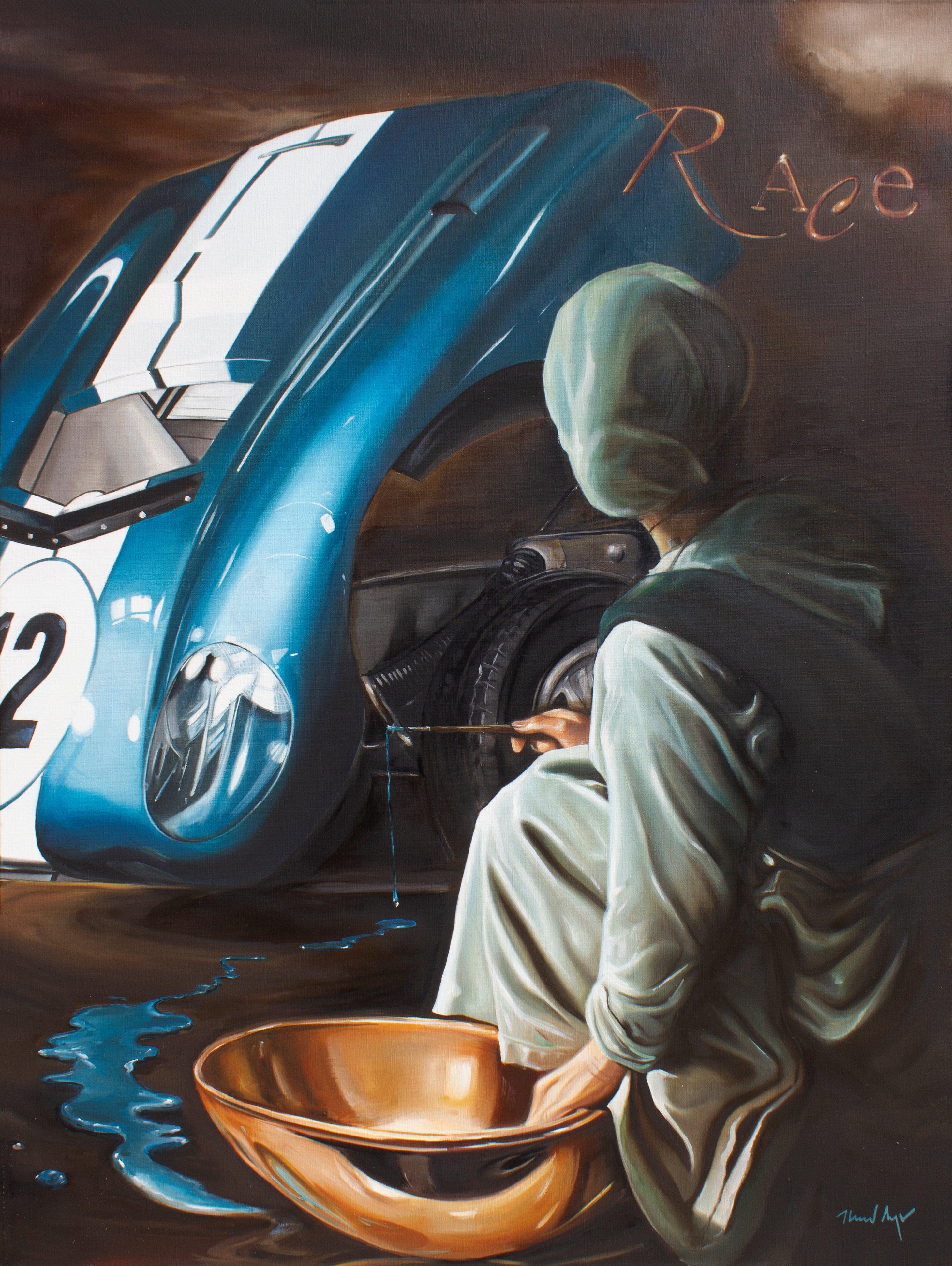 Race - framed 64.75 x 49 in