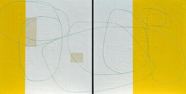 Fresh Lemonade_acrylic and paper on canvas_diptych 36x72_Maura Segal_2019_8MB