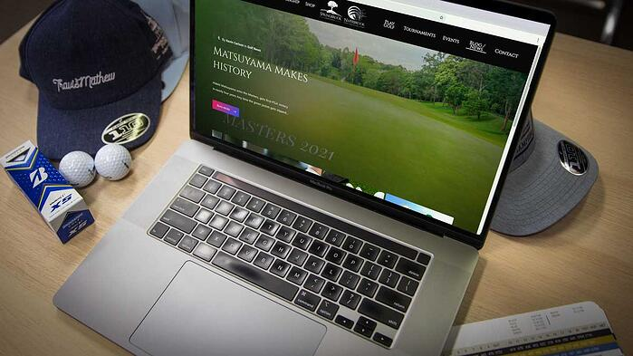keyboard for golf marketing website