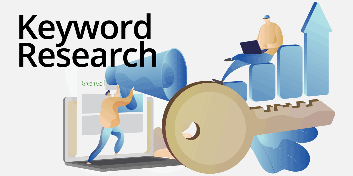 performing keyword research for golf courses