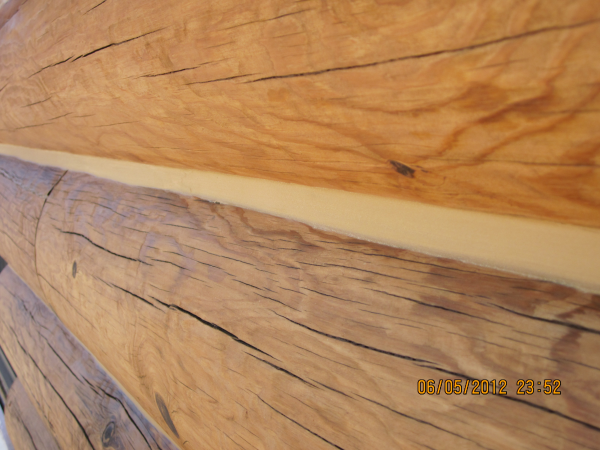 Professional Application of Log Home Caulking