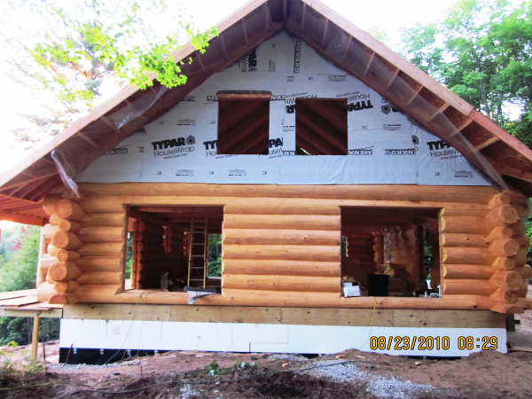 Log Home Finishing by IWR Co.