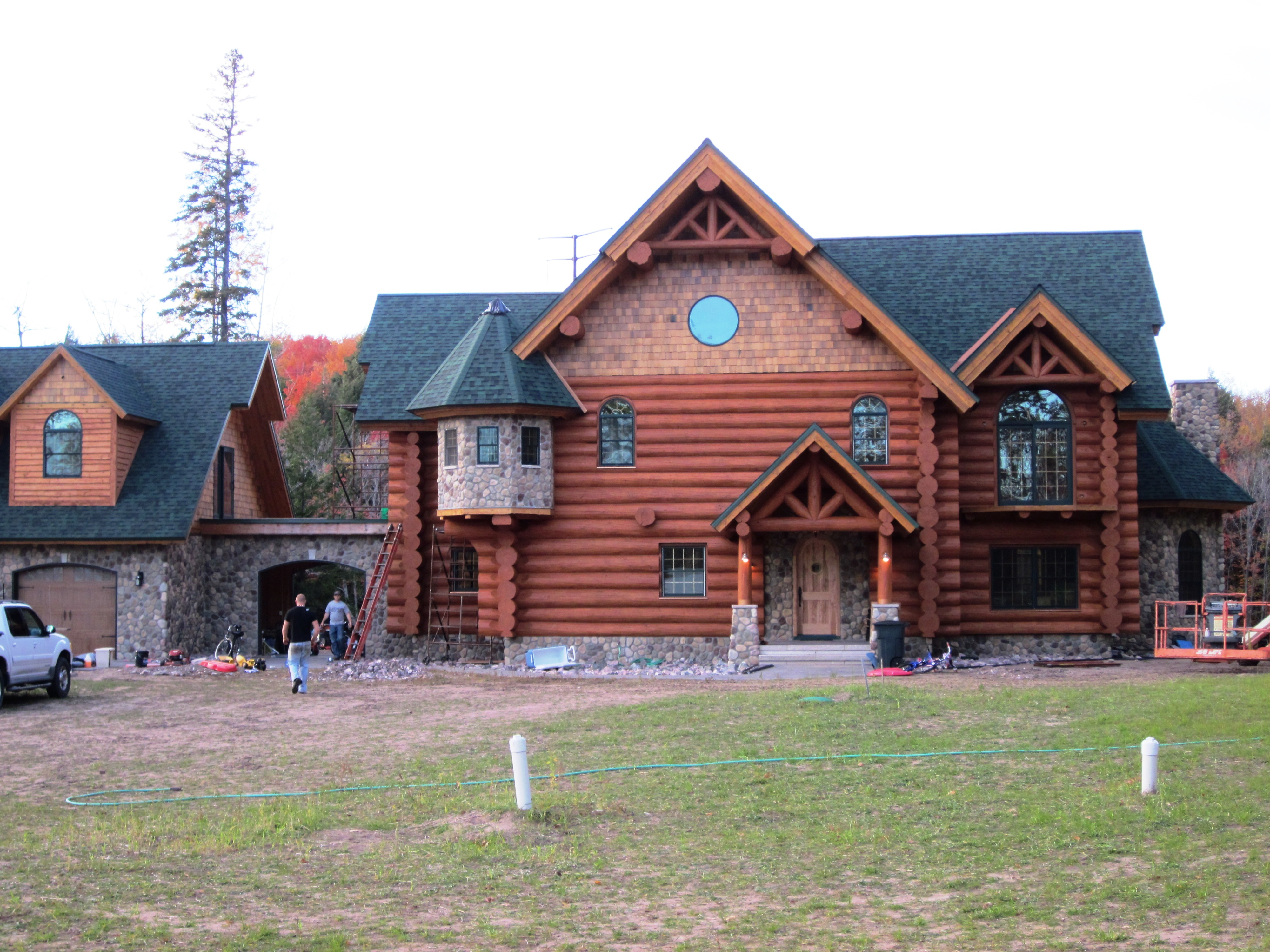 Log Home Finishing done by IWR Co.